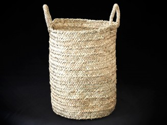 Handmade fiber basket L