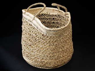 Handmade fiber basket M