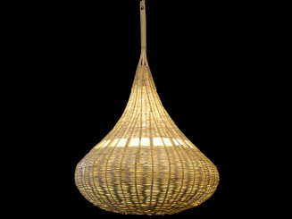 Wicker ball lamp