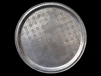 Vintage Moroccan aluminium tray