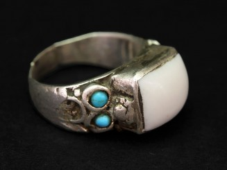 Old silver stone ring