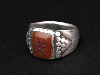 Old Carnelian silver ring