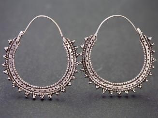 Kuchi old silver earrings.