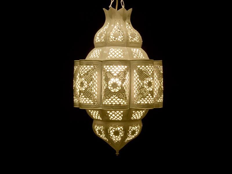 Mulay. Lámpara chapa pintada