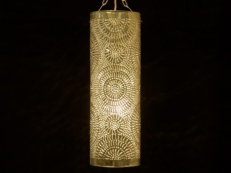 Lámpara tubo chapa perforada