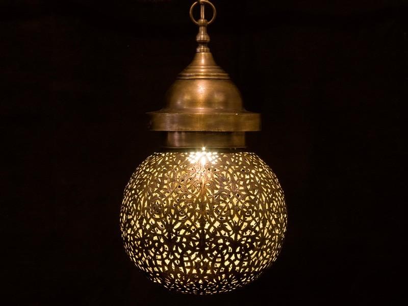 Lámpara cobre aserrado bola (M)
