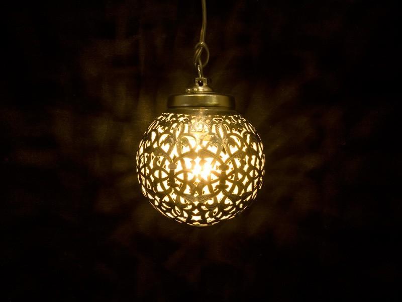 Lámpara cobre aserrado bola (XP)