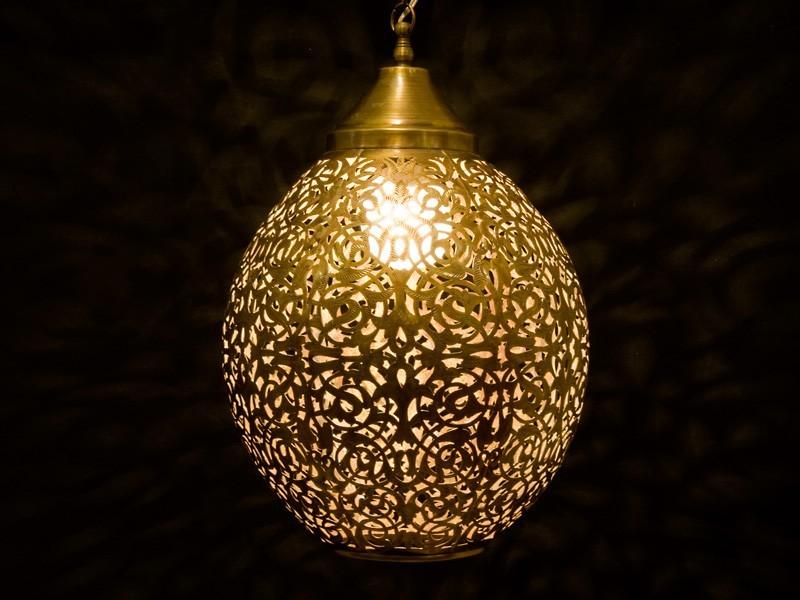 Lámpara cobre aserrado oval abierta