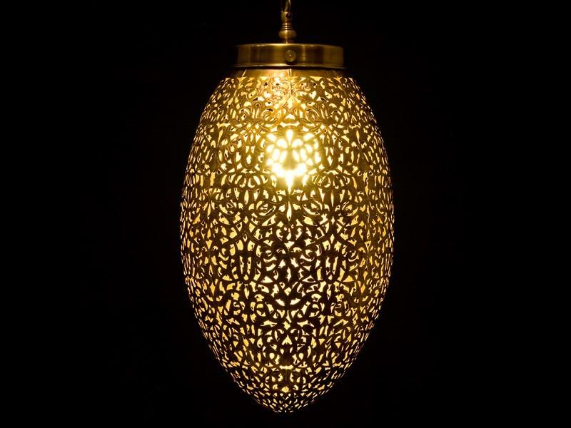 Lámpara cobre aserrado oval cerrada (G)
