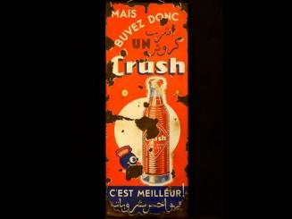 Crush advertisement plaque