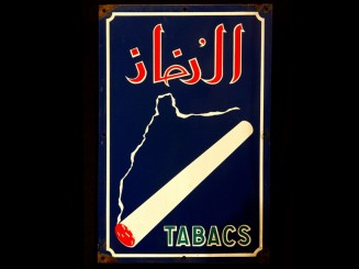 Tabacs enamel advertisement...