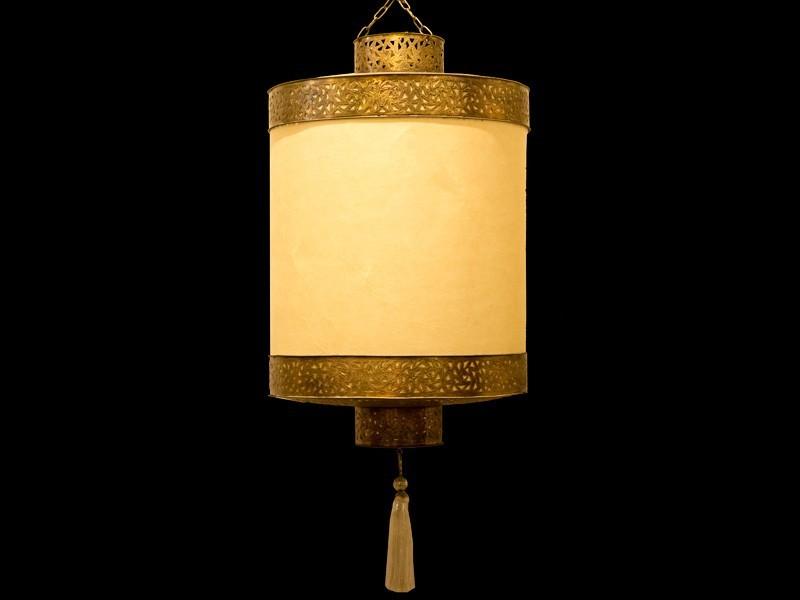 Lámpara cobre papel escalón