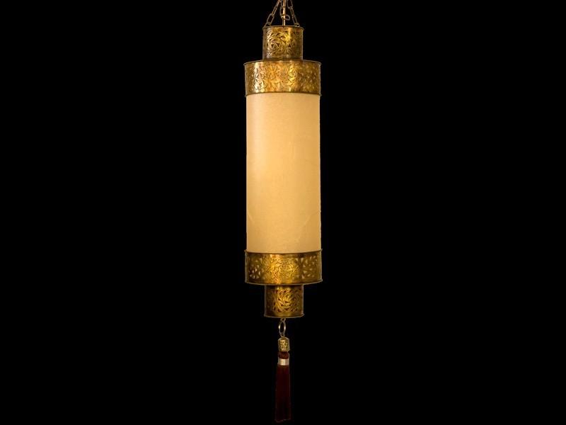 Lámpara cobre papel escalón (est.)