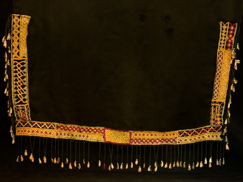 Velo bereber antiguo bordado en seda