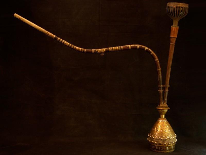 Mughal silver bronze hookak (XVIIIth)