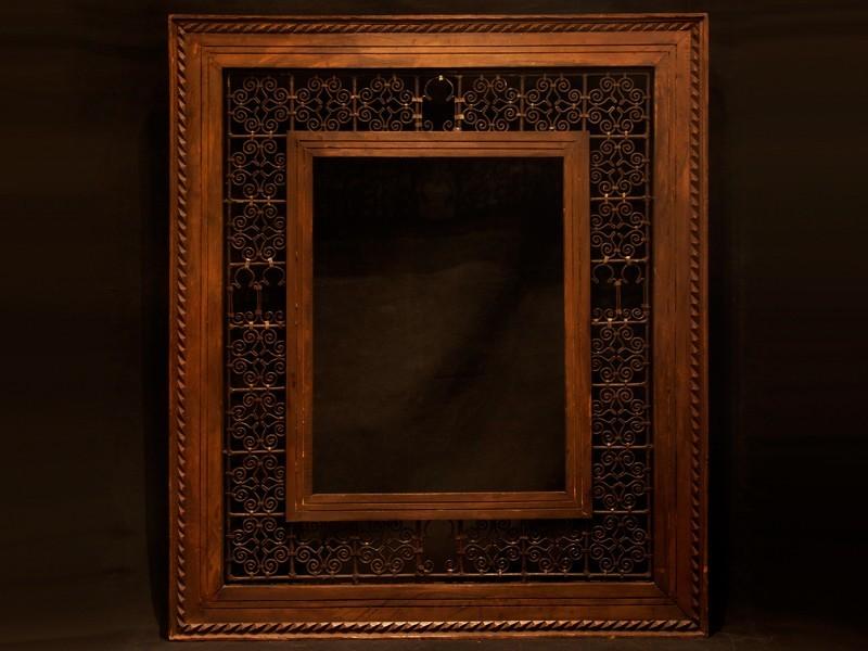 Cedarwood and wrought iron frame