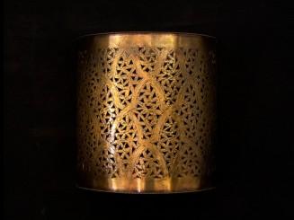 Copper openwork wall lamp