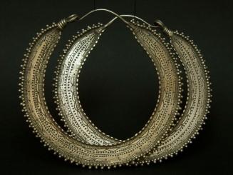 Hazara old large silver hoops.