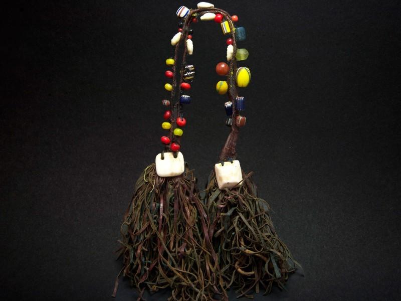 Sahara. Leather shells beads head ornament