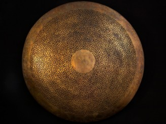 Openwork copper ceiling lamp
