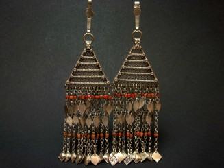Afghan silver coral temple...