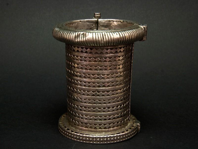 Silver hinged cuff, Afghanistan