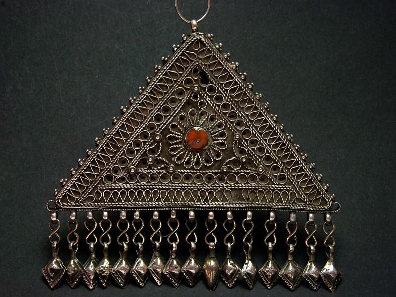 Silver triangle pendant