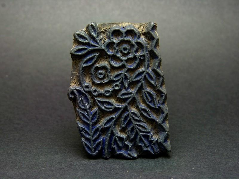 Wood printing textile block (S)