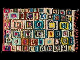 Boucherouite vintage rug