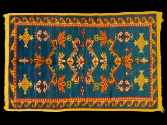 Aït Ameur wool knotted rug...