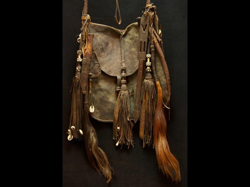 Zurrón o bolso completo Tuareg cuero ant.