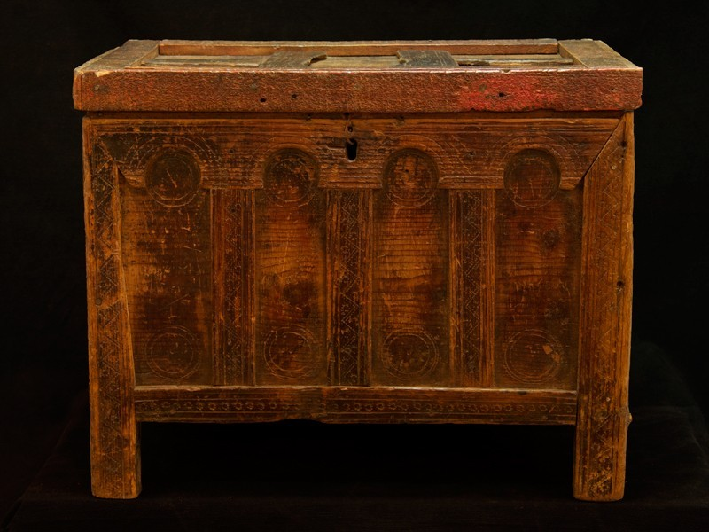 Sunduk. Arcón madera tallada Tahzout (P)