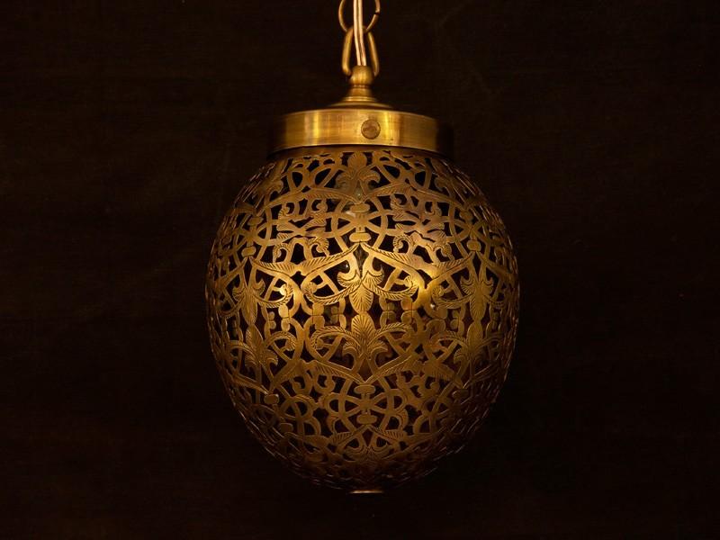 Lámpara cobre aserrado oval (P)