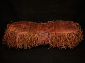 Tuareg leather cushion vintage
