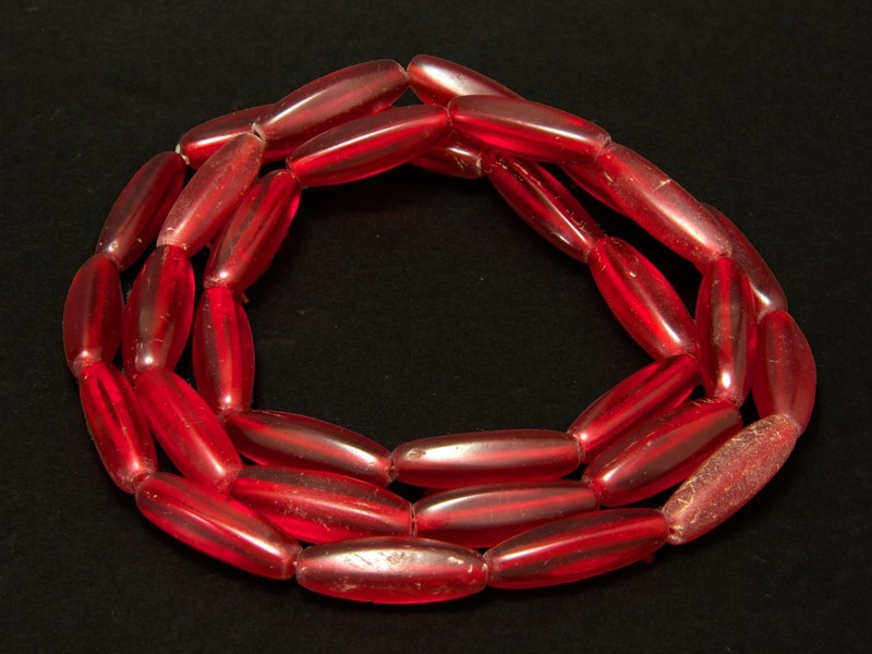 Strand of old African trade Bohemian glass beads