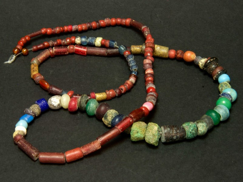 Strand of old African glass beads Nila