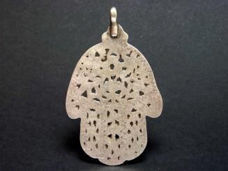 Pendant. Tunisian silver Hand of Fatima