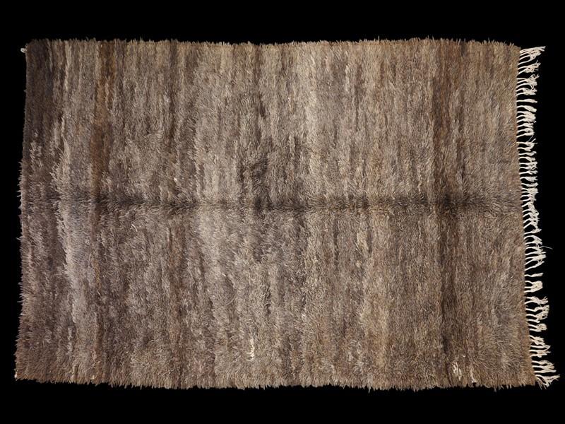 Alfombra nudo lana Beni Ouaraïn (gris)