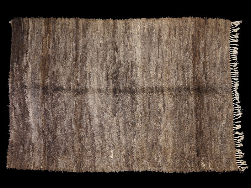 Berber knotted wool Beni Ouaraïn rug (grey)
