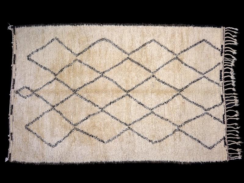 Berber knotted wool Beni Ouaraïn rug