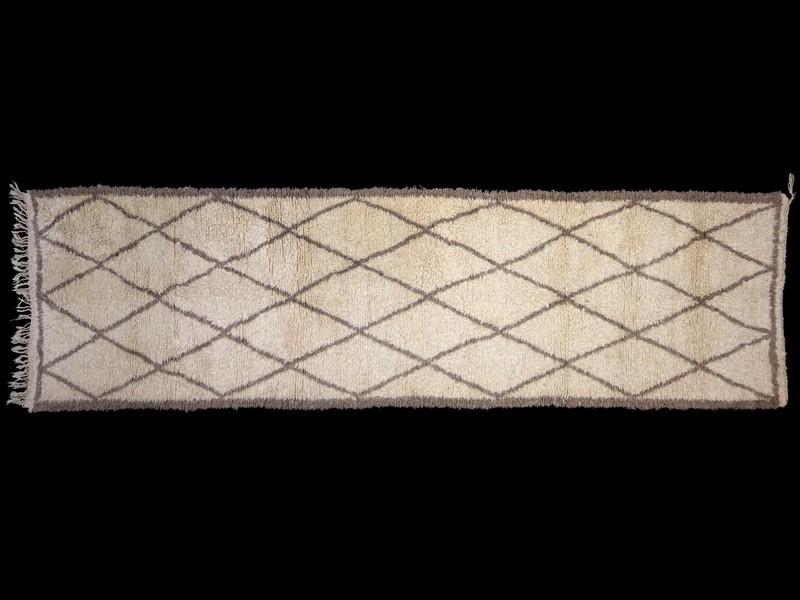 Alfombra nudo lana Beni Ouaraïn rombos (pasillo)