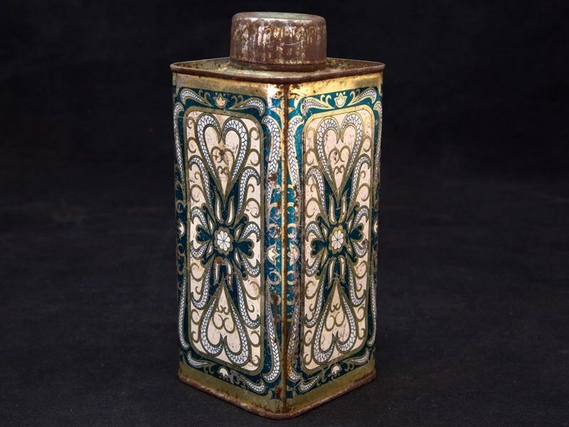 Vintage orientalist tin container (S)