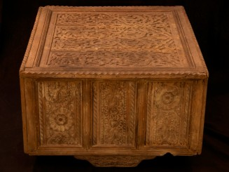 Moroccan carved cedarwood table