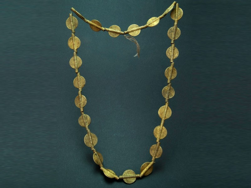 Malian bronze beads necklace