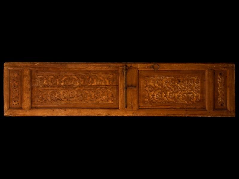 Hoja de puerta cedro antigua tallada
