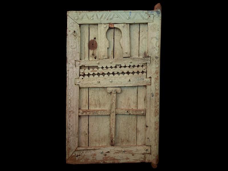 Old wooden Berber door from Souss