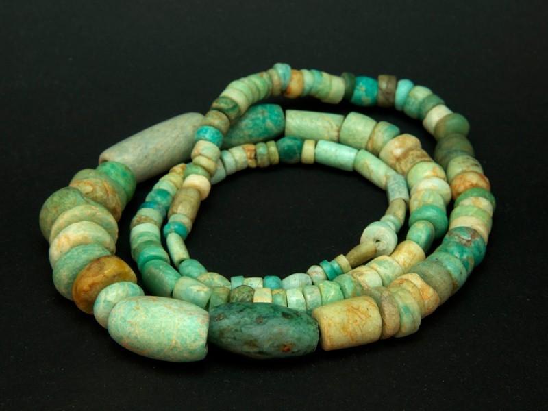 Strand old amazonite beads