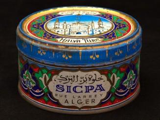 Vintage orientalist tin box...