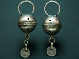 Berber silver hair rings.
