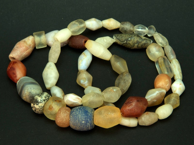 Strand of old African trade stone beads